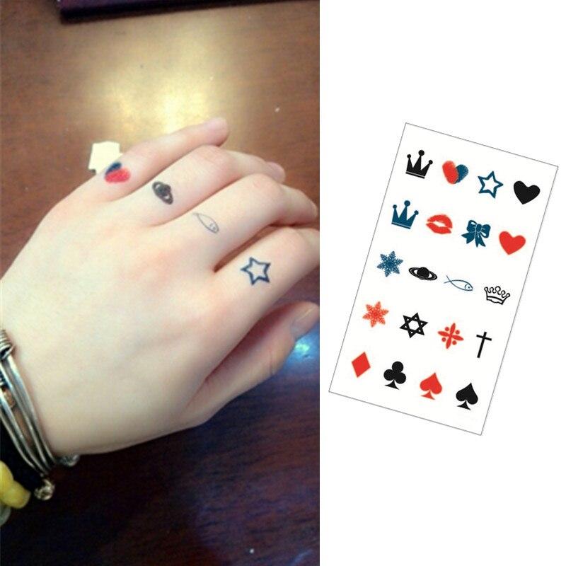 ᗛgraph Flash Tattoo Hand Sticker 10 5 6cm Small Waterproof Henna