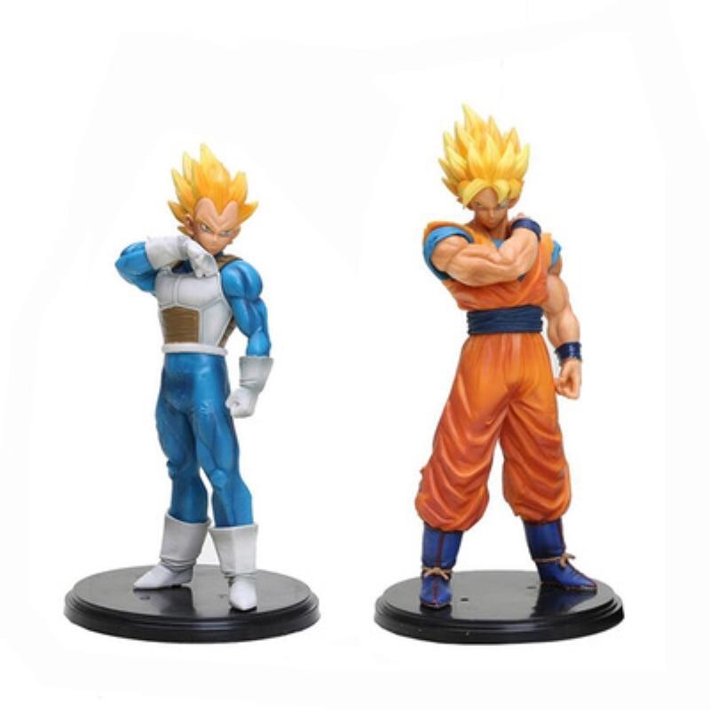 2019 New 22cm Dragon Ball Z Goku Vegeta Action Figure PVC Collection Model toys brinquedos for christmas gift children
