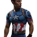 Капитан Америка Гражданской Войны Тройник 3D Печатные Футболки Мужчины железный человек косплей костюмы Фитнес Сжатия Одежда Мужчины Crossfit Топы