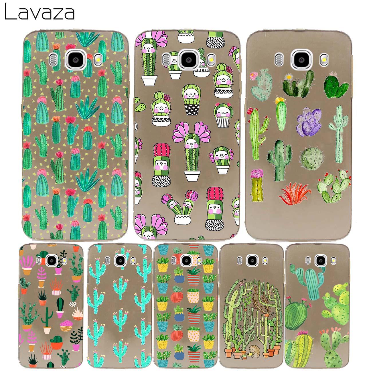 Lavaza Cactus Flower Hard cover case for Samsung Galaxy J3 J5 J7 2017 J1 J2 2016 2015 Ace Pro Prime 2018