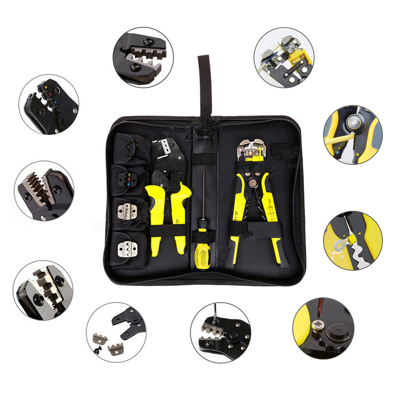 JX-D4301 Multifunctional Ratchet Crimping Tool Wire Strippers Terminals Pliers Kit