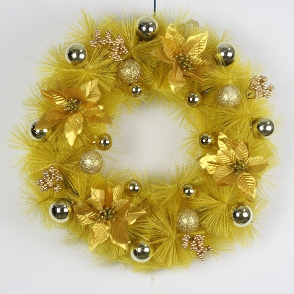Wedding Christmas Ornament Suppliers Wall Hanging Flowers Gold ...