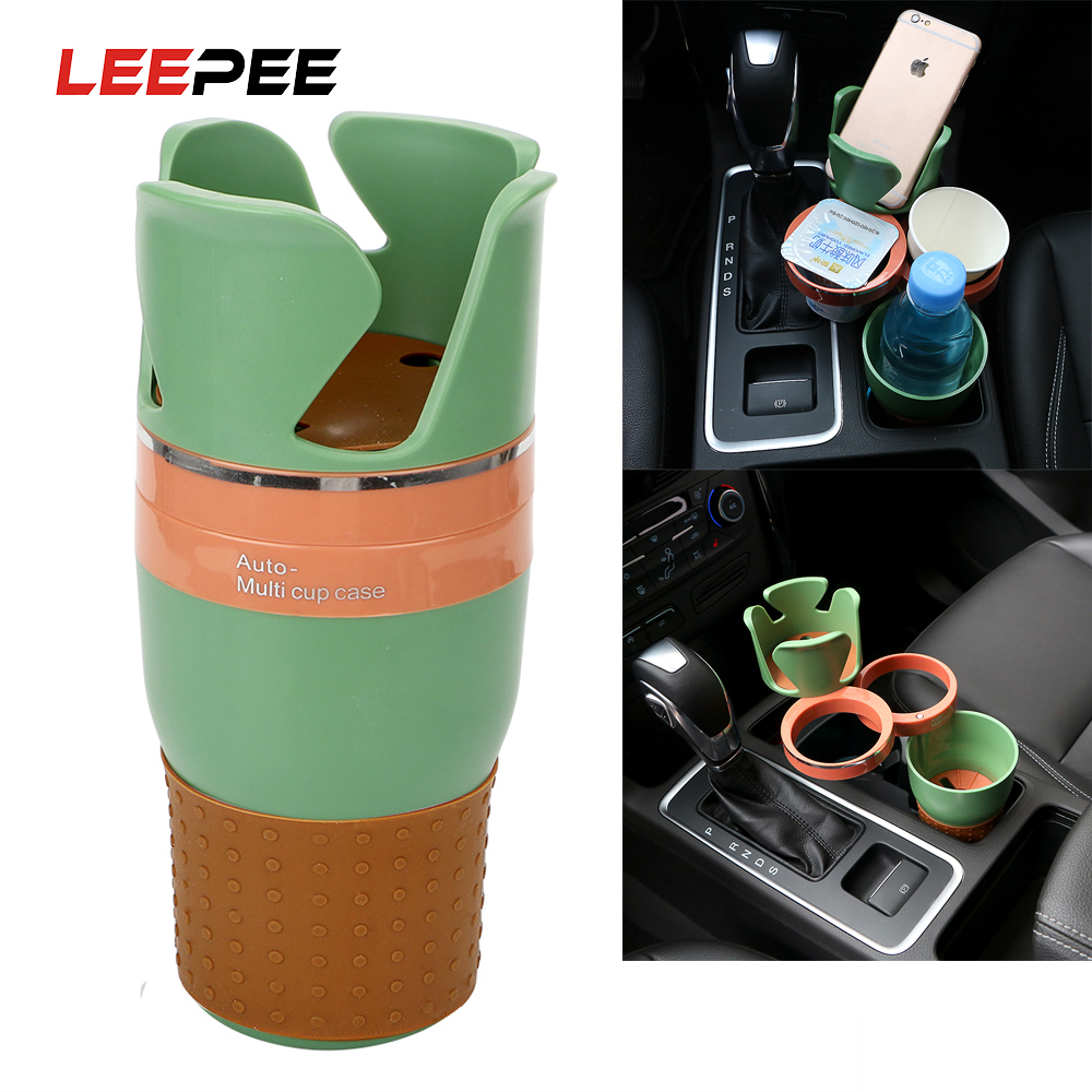 LEEPEE Auto Sunglasses Drink Cup Holder for Coins Keys Phone Stand Multi Function Car Phone Holder Car Organizer Car-styling