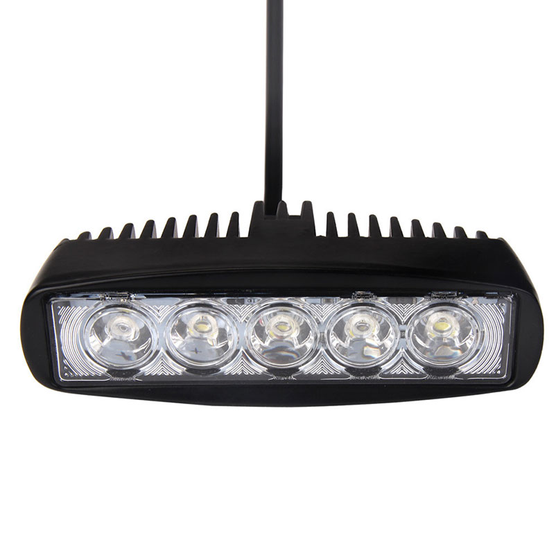 1PC Universal Car Boat Truck 15W Spotlight LED Light Work Bar Lamp Driving Fog Offroad SUV 4WD Car Styling