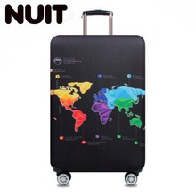World Map Elastic Thick Luggage Cover For Trunk Case Apply 18-32 Suitcase Protective Covers Cover Travel Pouch Accessory недорого