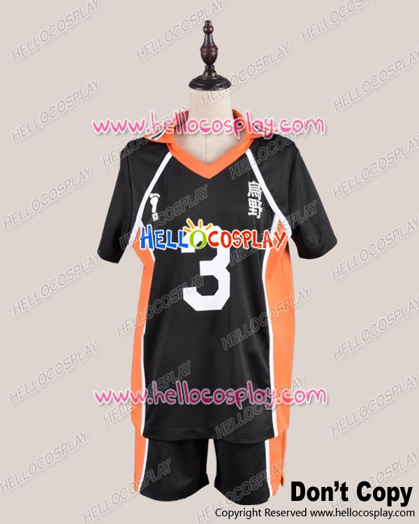 Shorts+short Jacket Haikyu Cosplay Juvenile The 3rd Ver Uniform Costume H008
