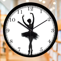 Creative ballerina girl decorating wall clock Exquisite dance artist fashion decorative wall clock
