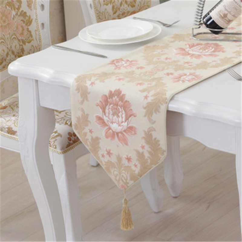 SBB neoclassical european-style Luxurious floral printed Table Runners wedding decoration Home Accessories simple