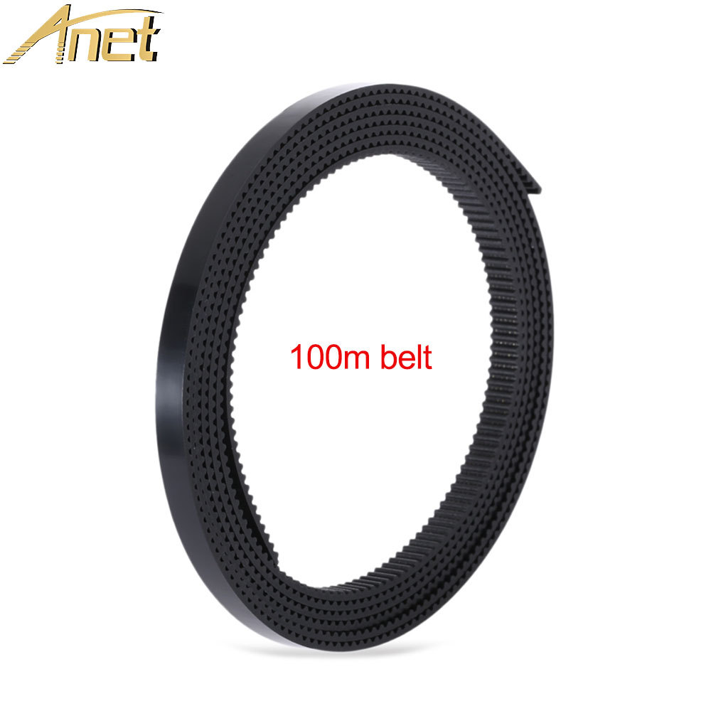 1PC Anet 3d printer parts belt 100m Belt 2mm Pitch 6mm Wide PU Material with Steel Wire for RepRap Prusa i3 3D Printer CNC цена