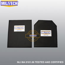 MILITECH 10'' x 12'' SC&STC Cut Pair Aramid Ballistic Panel Bullet Proof Plate Inserts Body Armor Soft Armour NIJ Level IIIA 3A(China)