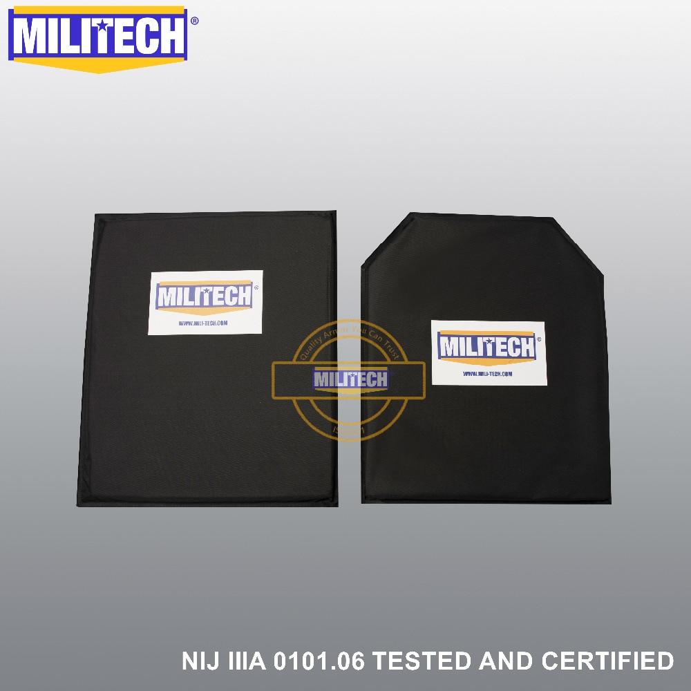 MILITECH 10'' X 12'' SC&STC Cut Pair NIJ Level IIIA 3A Aramid Soft Armour Ballistic Panel BulletProof Plate Inserts Body Armor