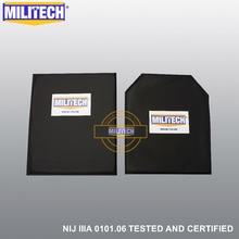 MILITECH 10 x 12 SC & STC לחתוך זוג NIJ רמת IIIA 3A ארמיד רך שריון בליסטי פנל bulletProof צלחת מוסיף גוף שריון