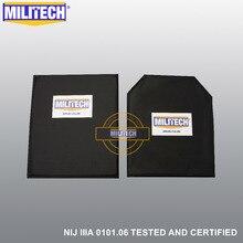 Militech 10 × 12 sc & stc カットペア nij レベル iiia 3A アラミドソフト鎧弾道パネル防弾プレート挿入ボディアーマー