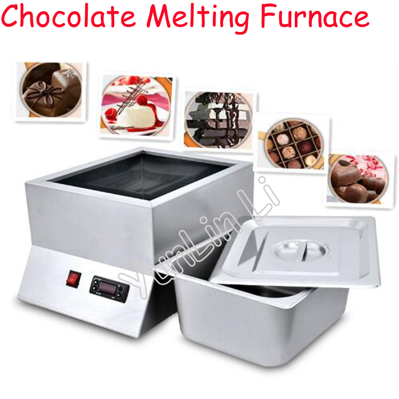 1 Tray Stainless Steel Electric Chocolate Melting Furnace Single Cylinder Chocolate Melting Pot For Commercial And Hom FY-QK-620 single cylinder commercial chocolate melting machine fy qk 620 stainless steel chocolate melting pot 220v 1pc