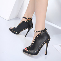 Womens High Heels Platform Stilettos Black Dropshipping nkle Strap Sexy Ladies Wedding Party Shoes Spike
