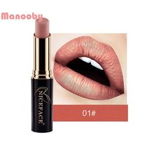 Manooby Matte Metallic Lipstick Women Makeup Long Lasting Le