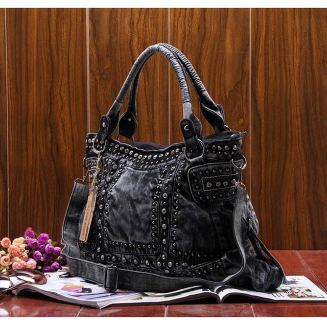 Vintage Design Fashion Denim Women Bag Jeans Shoulder Bags Girls Handbags Crossbody Bag Women Messenger Bags