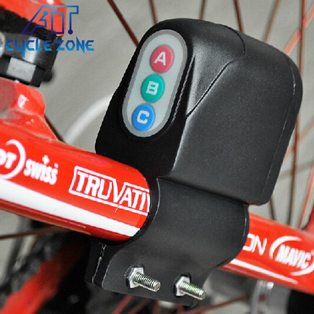 Bicycle Lock burglar alarm Bicycle ring type password alarm Cycling Horn Bike...
