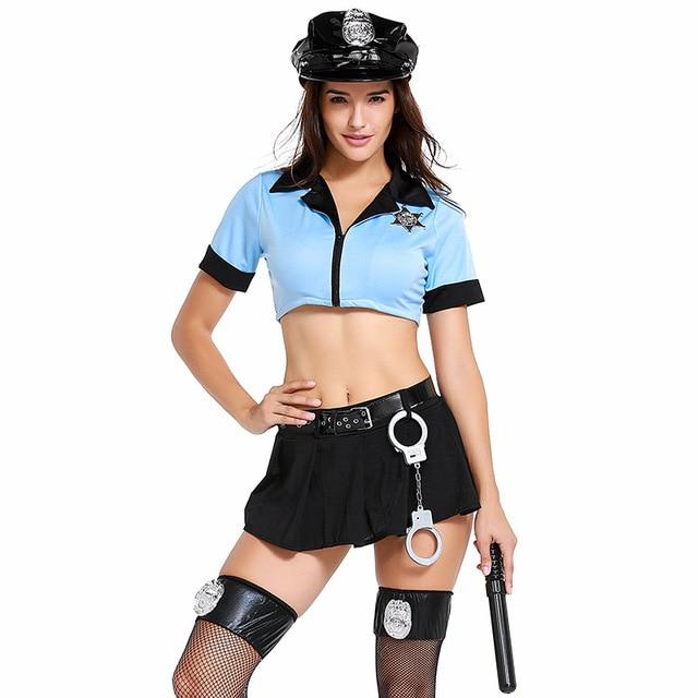Sexy Exotic Cop Lingerie Costume 2