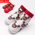Christmas Socks Baby Anti Slip Winter 2016 Warm Cotton Socks For Girls Cartoon Ankle Newbron Baby Boy Socks Kid Children's Socks