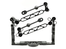 Underwater Tray Housings Arm Kit for Gopro Action Camera Holder Double Grip Diving  with 4  Butterfly Ball clamps