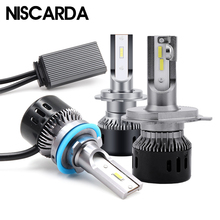 Niscarda 2019 NEW 2X 6000K H4 LED H7 H11 H8 H1 H3 W1 12-24V Car Headlight Bulbs 60W 9800LM 9005 9006 Car Headlamp Auto LED Light