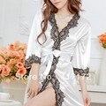 Venta al por mayor del estilo del cordón ropa interior para mujer delgada atractiva de la ropa interior con tanga falda pijama blanco azul púrpura rojo rosa envío gratis