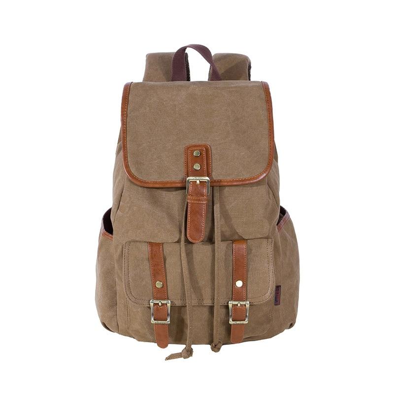 KAUKKO Canvas Rope Lock Flap Backpack Classic Fashion Women's Fresh School Bag Travel Bags Large Capacity Travel Backpack Bag kaukko fp84