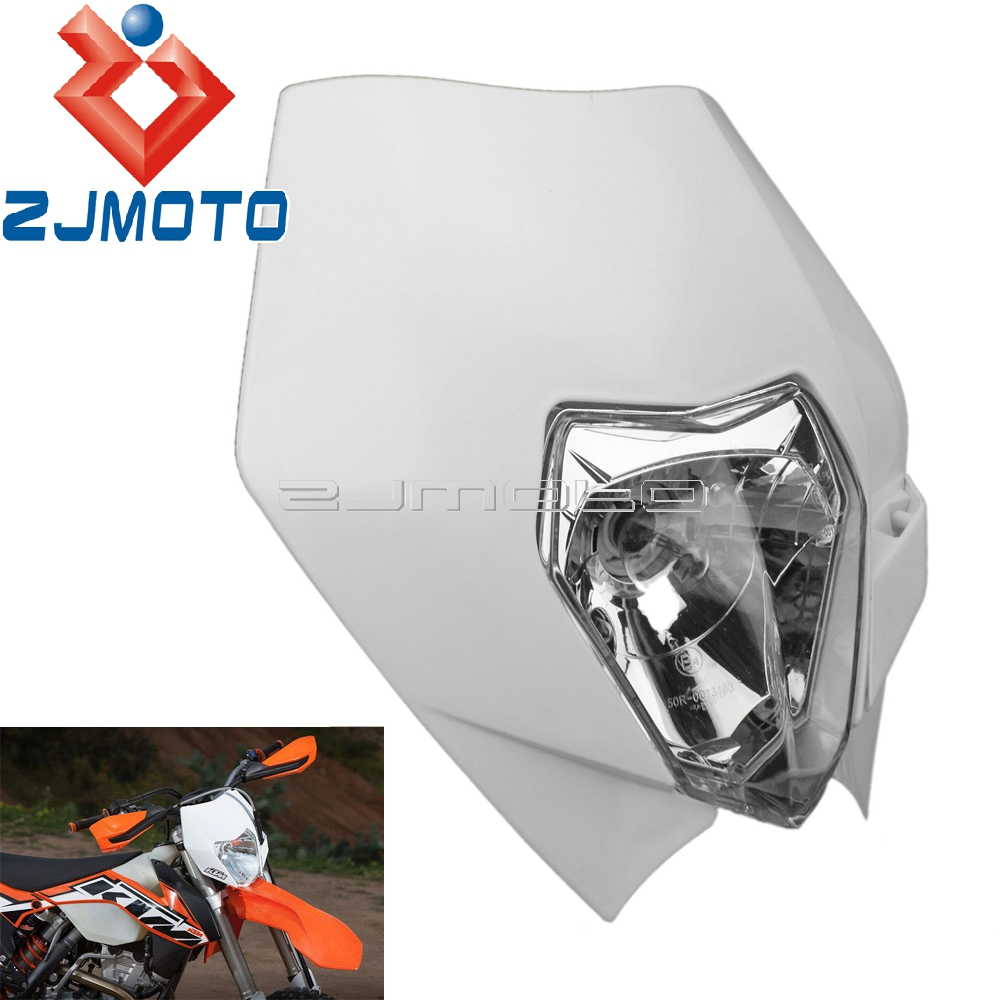 Motorcycle Headlight Fairing Supermoto Headlamp Mask For KTM Yamaha Suzuki SX EXC XCF SXF DRZ DR XT WR YZF TW 250 300 400 450