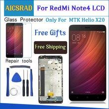 Per Xiaomi Redmi Nota 4 Display LCD e Touch Screen Con Telaio 5.5 Pollici Testato Per Xiaomi Redmi Nota 4 + strumenti per MTK Helio X20