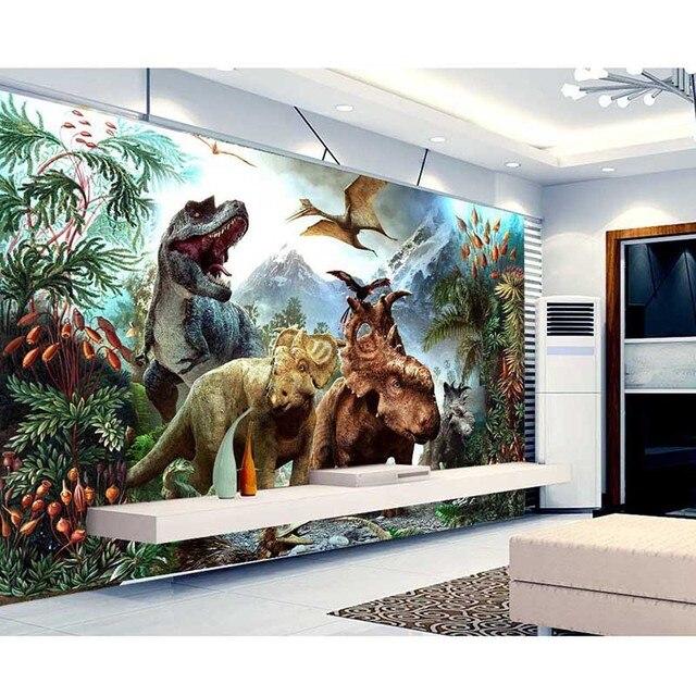 2016 foto behang dinosaurus park 3d non woven behang slaapkamer woonkamer tv achtergrond muurschildering behang