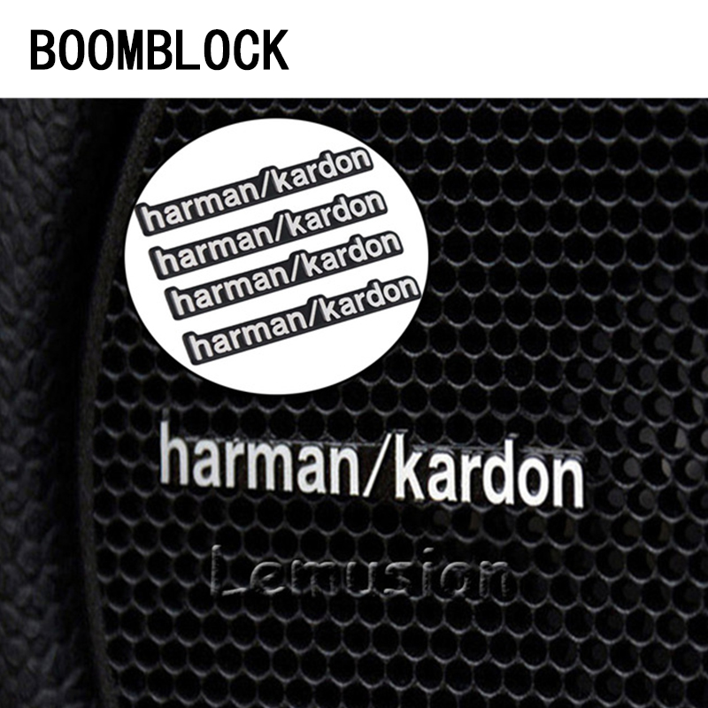 BOOMBLOCK Car Stickers Audio Video Speaker For Harman Kardon For Mercedes W204 W210 AMG Benz Bmw E36 E90 E60 Fiat 500 Volvo S80