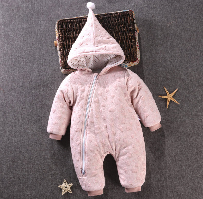 Baby Clothes Girls Winter Romper Hooded Cotton Clothing For Infant Boy Thick Warm Toddler Costume 3M-18M XW puseky 2017 infant romper baby boys girls jumpsuit newborn bebe clothing hooded toddler baby clothes cute panda romper costumes
