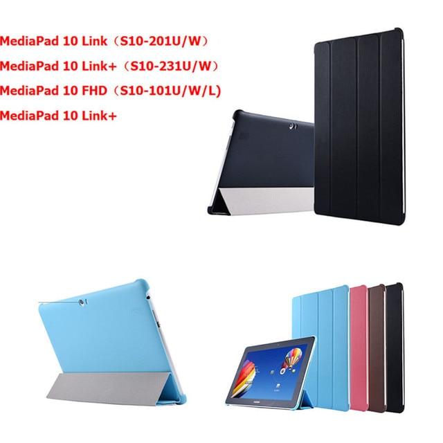 Pu del soporte del cuero case para huawei mediapad 10 fhd link 10.1 pulgadas cubierta para mediapad 10fhd 10 link link + tablet PC