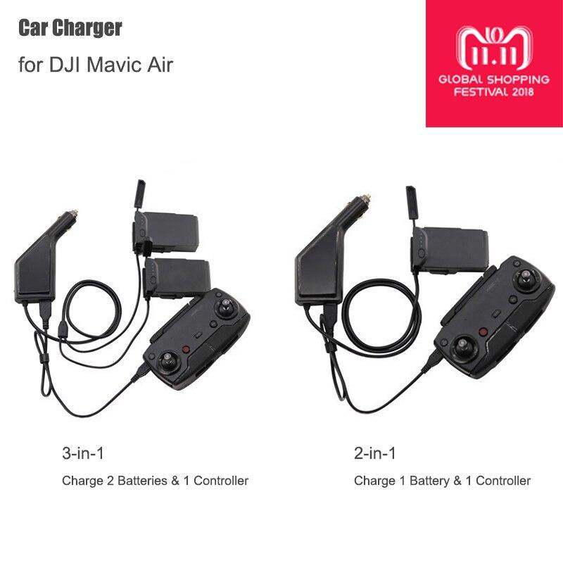 Cargador de coche para DJI Mavic Air batería inteligente cargador Hub Mavic Air Car Connector adaptador USB Multi batería cargador de coche