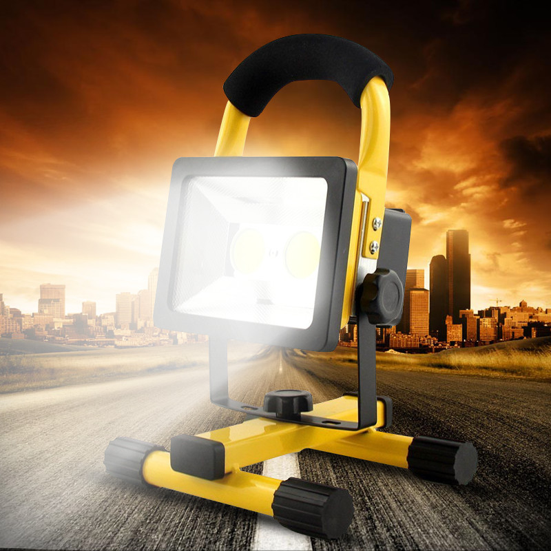 Smuxi 30W Rechargeable LED Floodlight Portable Lantern Led Work Light Adapter+Car Charger IP65 Waterproof Lamp Camping