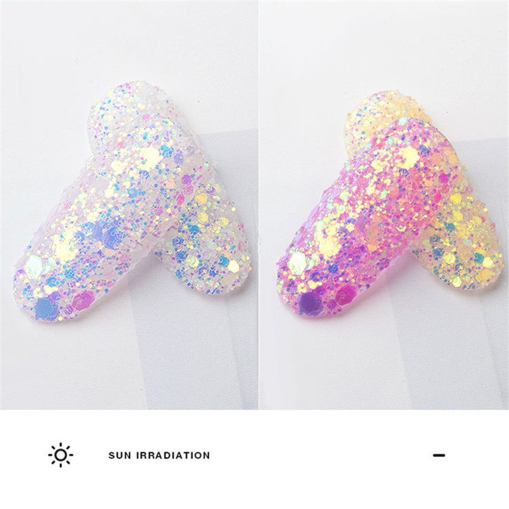 Лак для ногтей порошок наклейка блесток градиент 6 шт оптическое зеркало-Хамелеон DIY пыль дизайн ногтей Блеск хром пигмент P# B45 Прямая поставка