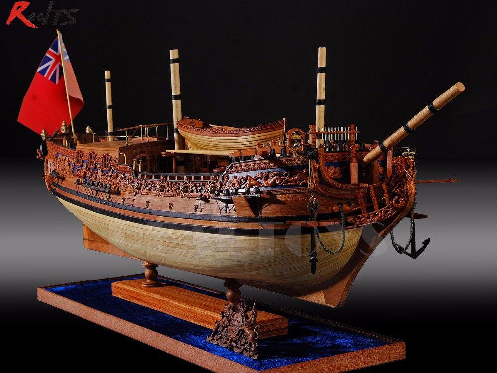Klasyczny okrętów wojennych zestaw modeli do składania s 1/30 HMS Royal Caroline 1749 drewna statek wojenny królewskiej Caroline żagiel model łodzi zestaw w Zestawy modelarskie od Zabawki i hobby na  Grupa 1