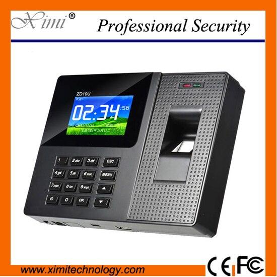 цена на Cheap price fingerprint time attendance color screen 800 fingerprint users Flash Disk USB communications biometric time recorder