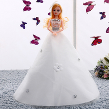 45CM Wedding Dress Doll Top Grade Toys Moveable Joint Body Princess Dolls Birthday Present For Girls