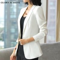 Plus/Large Size XXXXXL Autumn Women Blazers And Jackets Candy Color Jacket Long Sleeve Slim Suit One Button Women Jacket 4XL 5XL