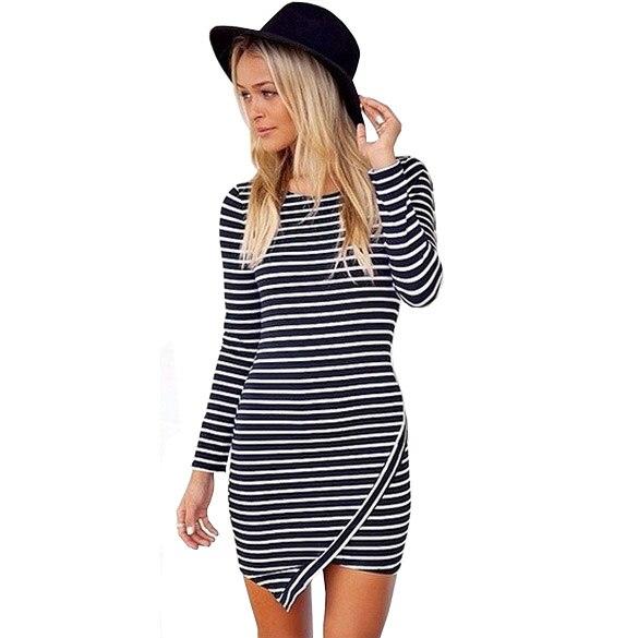 Aliexpress Buy European Fashion Women Striped Bodycon Party
