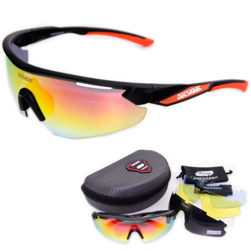 Brand Queshark TR90 Frame UV400 Protection Polarized Glasses Cycling Sunglasses Racing Bicycle Eyewear 5 Lens two tone frame round lens sunglasses