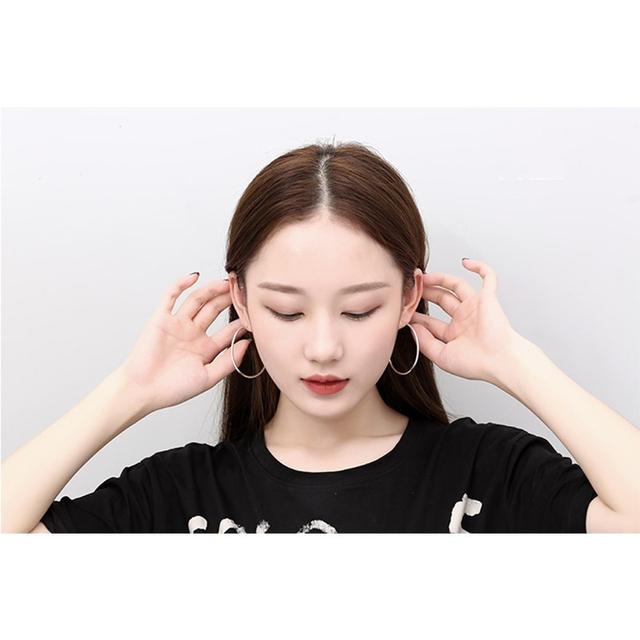100% 925 Sterling Silver Hoop Earrings