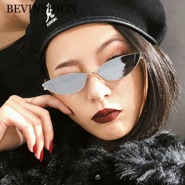 5cbbb841e7 Korean Style Cute Cat Eye Sunglasses Women Mini Small Glasses Metal Frame  Light Red Yellow Pink Lens Sexy Party Travel Lunette