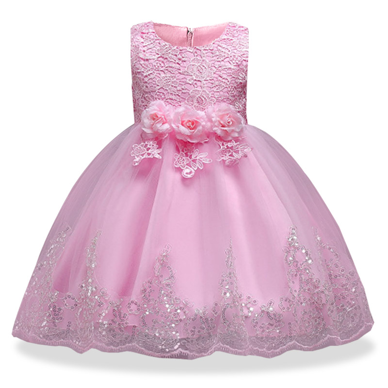 Baby girl clothes with summer children clothing girl wedding Bridesmaid girl floral princess party long tutu dress 3-14 years