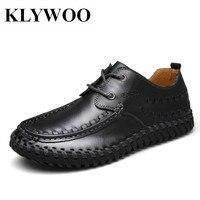 KLYWOO Handmade Designer Classic Men Dress Shoes Leather Black Brown Fashion Luxury Brand Men Italian Formal