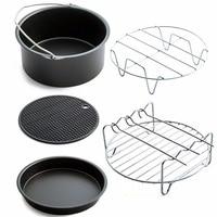 ホーム空気フライパンアクセサリー 5 ピースフライヤーベーキングバスケットピザプレートグリル鍋マット多機能キッチンアクセサリー -
