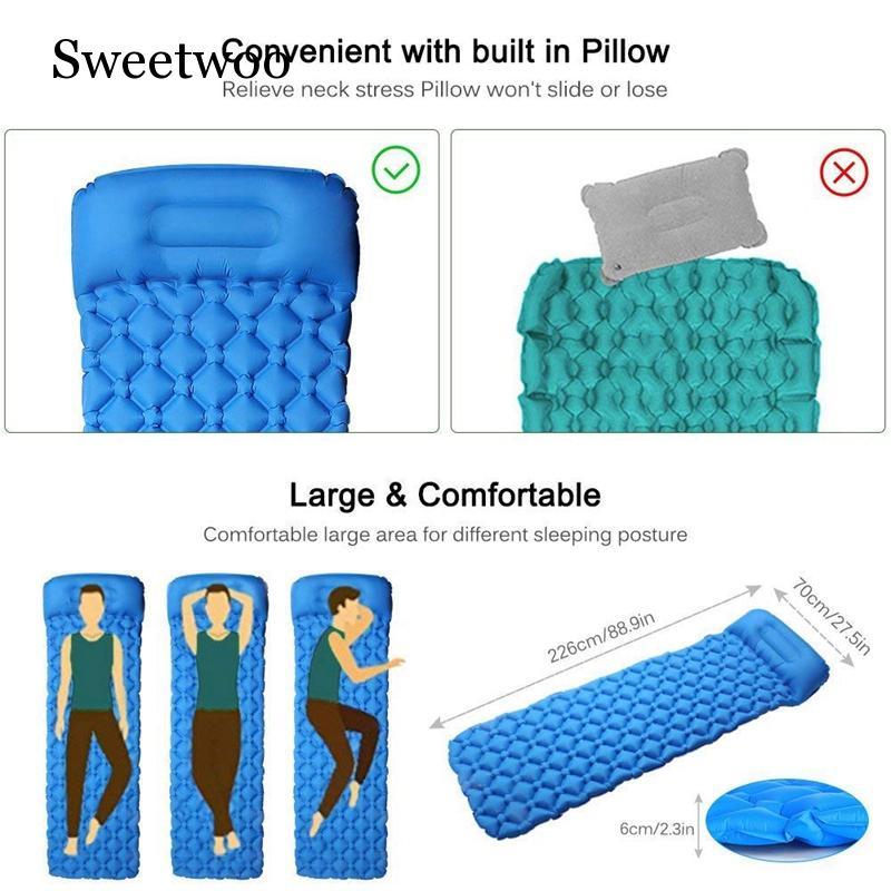 camping almofada de dormir ultraleve auto almofada 04