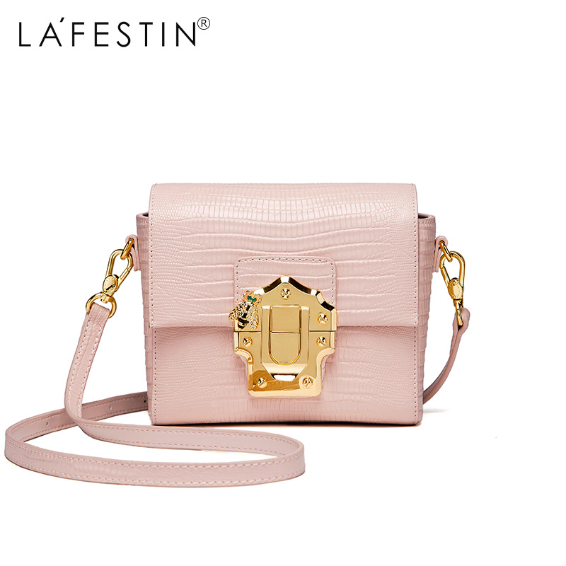 LAFESTIN Luxury Shoulder Women Handbag Genuine Leather Bag 2017 Fashion Designer Totes Bags Brands Women Bag bolsa Female luxury genuine leather bag fashion brand designer women handbag cowhide leather shoulder composite bag casual totes